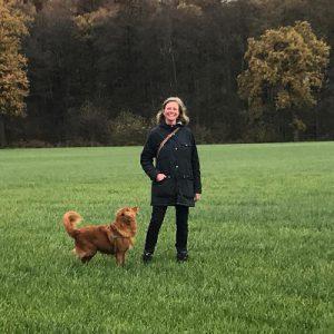 Elise met hond